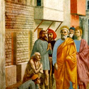 San Pietro risana gli infermi con la sua ombra