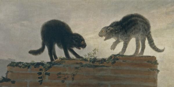Riña de gatos - Francisco de Goya - Historia Arte (HA!)