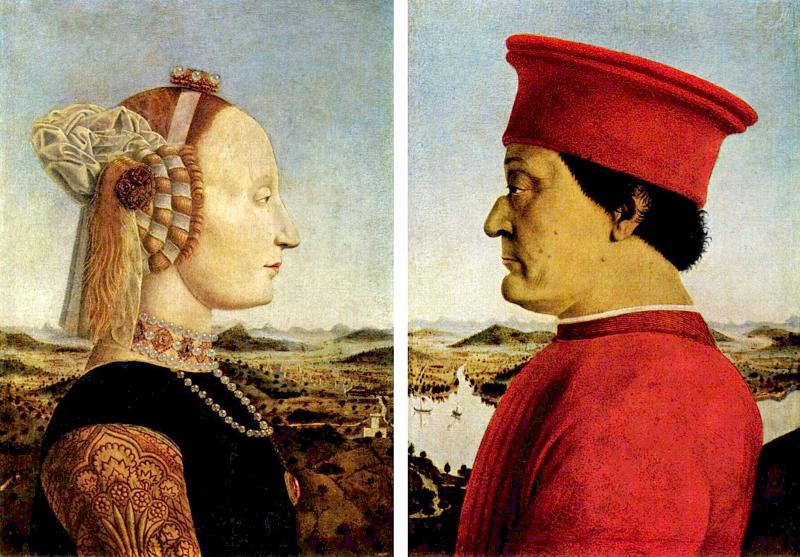 Ritratti di Federigo di Montefeltro, duca d'Urbino e della moglie Battista Sforza