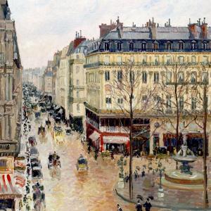 Rue Saint-Honoré dans l'après-midi. Effet de pluie