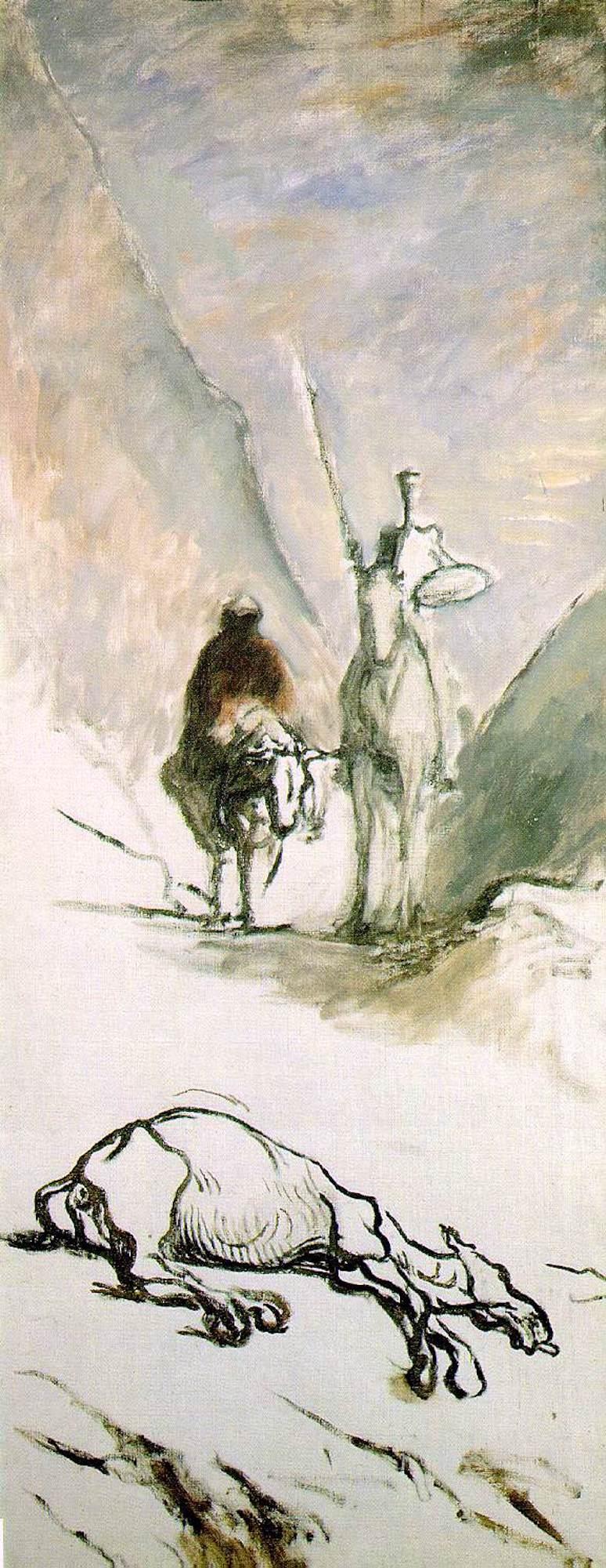 Don Quichotte et la mule morte