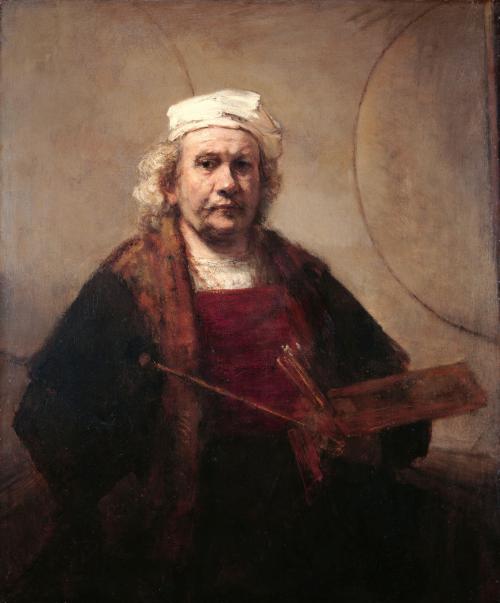 Autorretrato con dos círculos - Rembrandt van Rijn - Historia Arte (HA!)