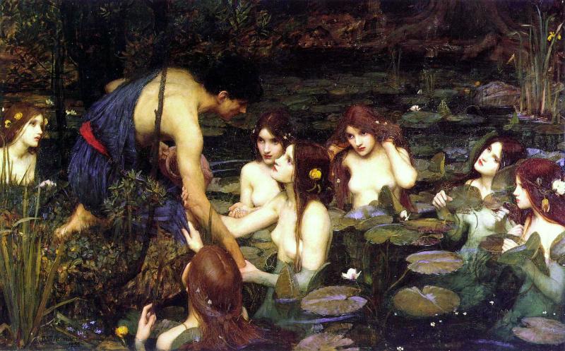 Hilas y las ninfas - John William Waterhouse - Historia Arte (HA!)