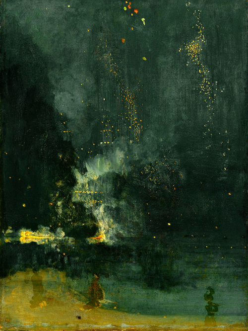 Nocturno en negro y dorado: Cohete cayendo - James Whistler ...