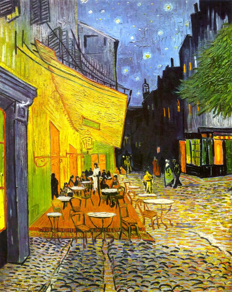 errasse du café le soir, Place du forum, Arles