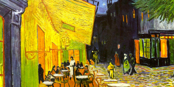 Resultado de imagen para cafe bajo la luna pintura