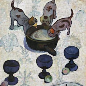Nature morte aux trois petits chiens