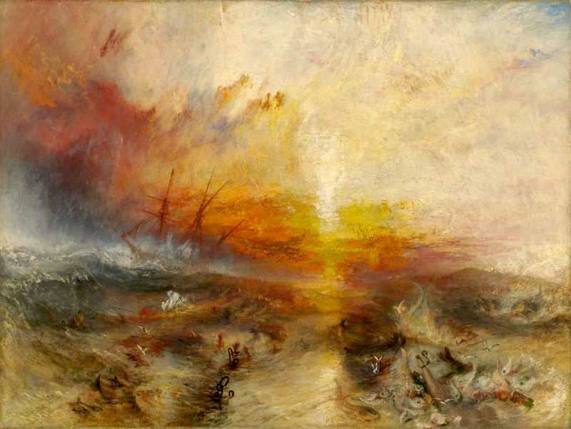 Slavers Throwing overboard the Dead and Dying—Typhon coming on
