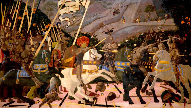 Battaglia di san Romano: Niccolò da Tolentino alla testa dei fiorentini