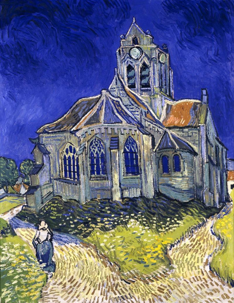 L'église d'Auvers-sur-Oise, vue du chevet